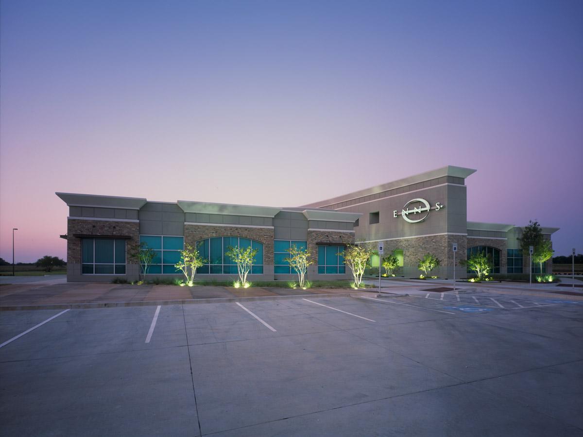 ENNIS-Corp-HQ---Exterior Dusk
