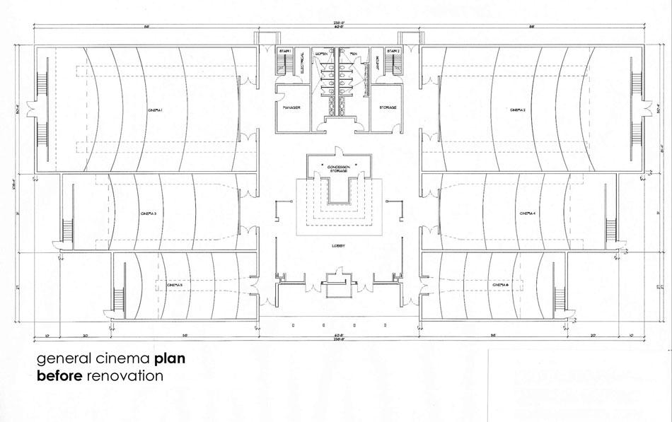UA Cinema Plan _ Before Renovation
